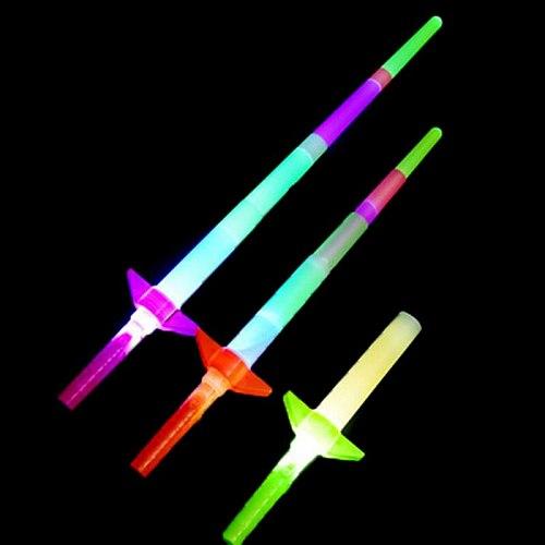 1 PC LED Glow Stick 4 Section Extendable LED Glow Sword Kids Toy Flashing Stick