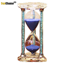 Crystal Hourglass Timer 30/60 Minutes Decoration Children Students Creative Hourglass Sand Timers Home Decoration Accessories