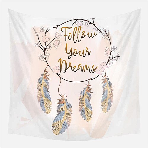 Fuwatacchi Colorful Feather Wall Tapestries Dreamcatcher Tapestry Large Macrame Wall Hanging Decor Home Bedroom Decorations Ins