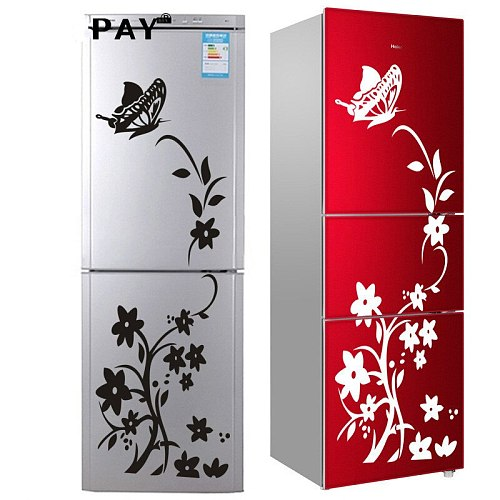 High Quality Wall Sticker Refrigerator Sticker Butterfly Pattern Wall Stickers Home Decor Wallpaper Bedroom Decor Free Shipping