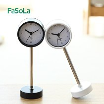 Fasola vertical clock Nordic ins home fashion creative desktop vertical clock small metal vertical alarm clock