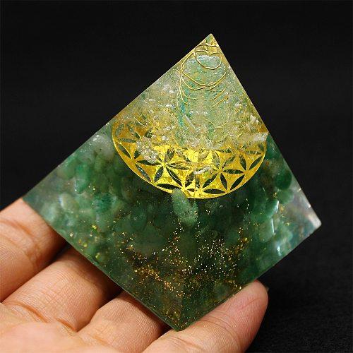 Orgonite Pyramid Spiritual Healing Energy Converter Metatron Meditation Natural Crystal Rock Quartz Jewelry Reiki Chakra Stones