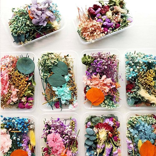 1 Box Real Mix Dried Flower For Aromatherapy Candle Epoxy Resin Pendant Necklace Jewelry Making Craft DIY Accessories XJ44