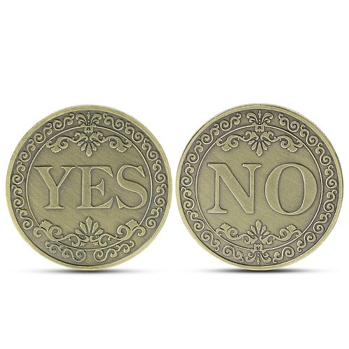YES or NO Commemorative Coin Floral YES NO Letter Coin Classic Magic Tricks TOYS