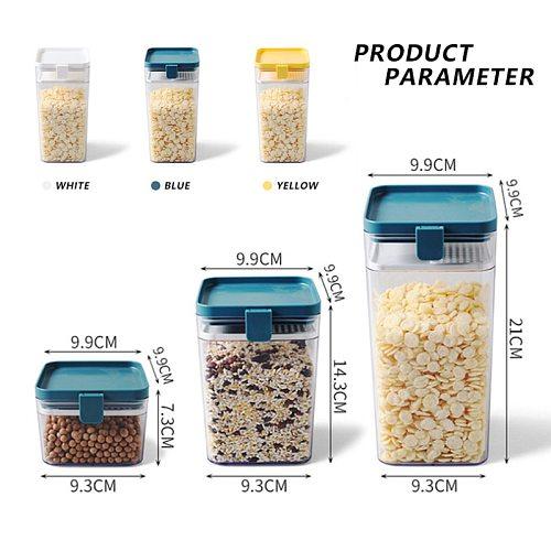 500/1000/1600ML Food Storage Container Plastic Kitchen Refrigerator Noodle Box Transparent Sealed Storage Box Bottles,Jars & Box