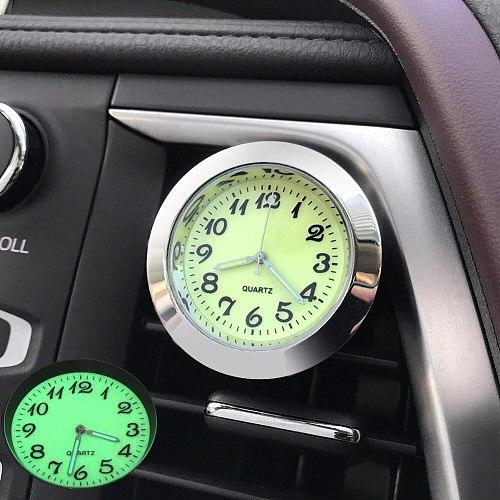 Luminous Car Clock Vents Clip Ornament Air Freshener Automotive Watch Automobile Interior Digital Quartz Clock Display Ornaments