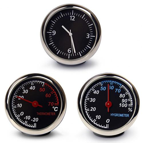1 Pcs Mini Car Clock Automobiles Internal Stick-On Digital Watch Mechanics Quartz Clocks Auto Ornament Car Styling Accessories