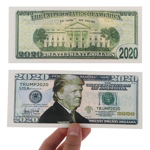 6Pcs 2020 Donald Trump Commemorative Coin Presidential Paper Banknote Non-currency