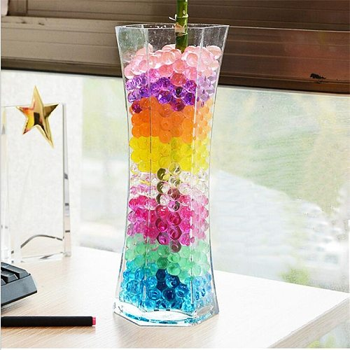 5000pcs color pearl gel ball polymer hydrogel crystal mud soil water beads grow magic jelly wedding family decoration