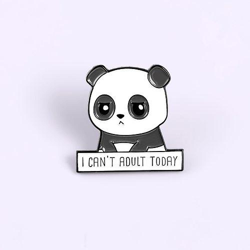 Cartoon animal Panda pins brooches for women Black white panda badge enamel pin backpack lapel pin hat Jackets Jewelry kid gifts