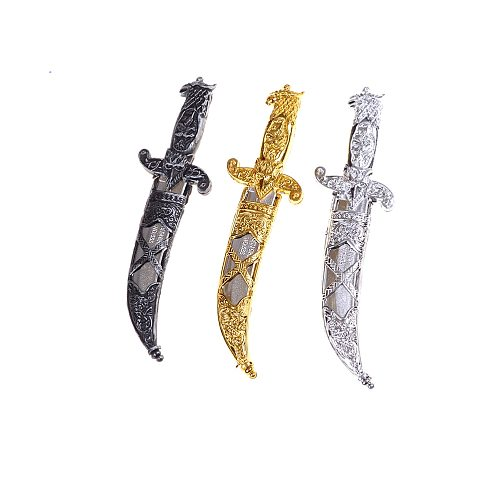 Plastic Swords 7-B Party Supplies Halloween Toy Sword Small Weapons Phoenix Knife Toy Pirates Dagger for Kids 1pc 22*6 Cm Unisex