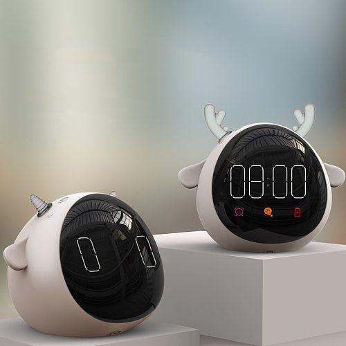 Cute Pet Sheep Deer Alarm Clock Intelligent Colorful Electronic Creative Mini Digita Sleep Kids Desk Table Clock