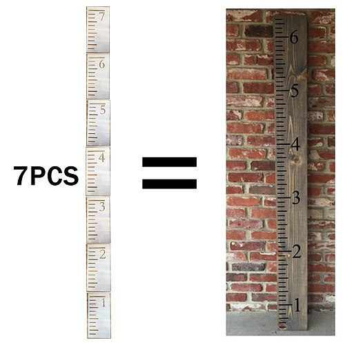 7 Feet Growth Chart Stencil Kids Height Growth Chart Reusable Kids Height Measuring Ruler Template Painting On Wood Wall Decor