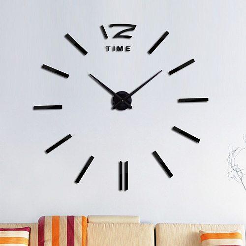 Fashion design Diy acrylic mirror large wall clock quartz watch still life clocks modern living room home decoration stickers