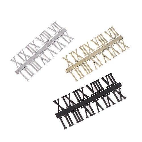 1 Set Roman Numeral DIY Digital Replacement Gadget Repair Clock Parts Clock Dial Digital Mechanism Parts Card Clock Accessories