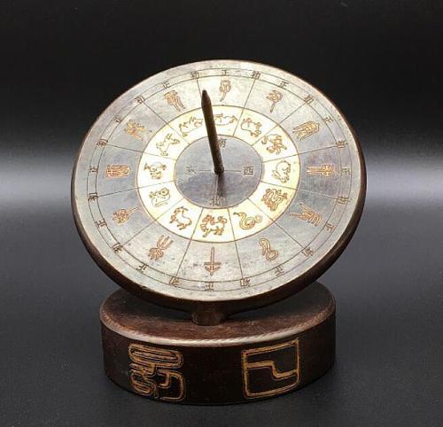 Pure brass Ancient human timekeeping apparatus sundials crafts decoration