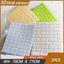 70x77cm DIY 3D Wall Stickers papel de parede 3d Foam Brick Room 3d panel self adhes Wall Decor Living Wall Sticker For Kids Room
