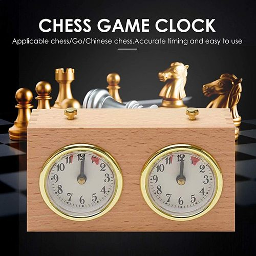 Wooden Compact Digital International Retro Portable Competition Game Timer Mechanical Count Up Down Analog Chess Clock Gift