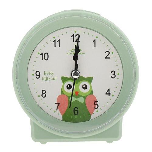 Adorable Movement Green Kids Bedside Clock Snooze Clocks Kids Room Ornament