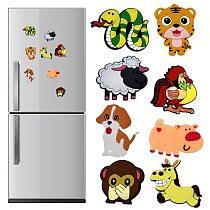 1PC Refrigerator Magnets Silicone Home Decoration Animal Cartoon Fridge Magnets Zodiac Kids Gifts Whiteboard Sticker