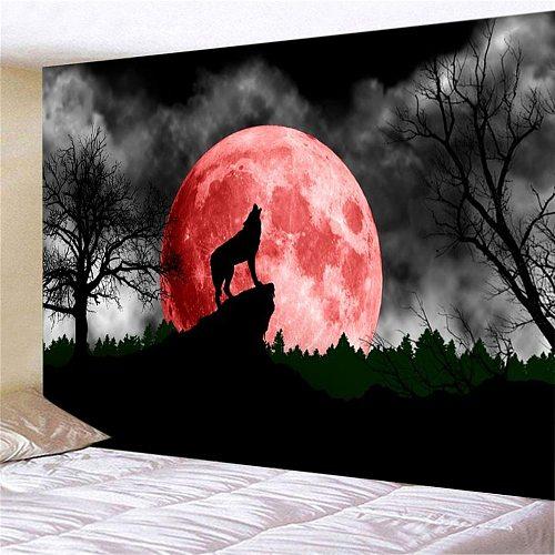 Wolf 3D Print Wall Hanging for Bedroom Living Room Hall Wall Painting Tapestry ( 95cmx73cm/150cmX100cm/150cmX130cm/200cmX150cm)