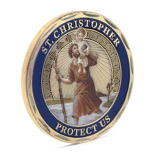 St. Christopher Commemorative Coin Patron Saint Of Travelers Commemorative Challenge Coin Collection Non Currency Coin