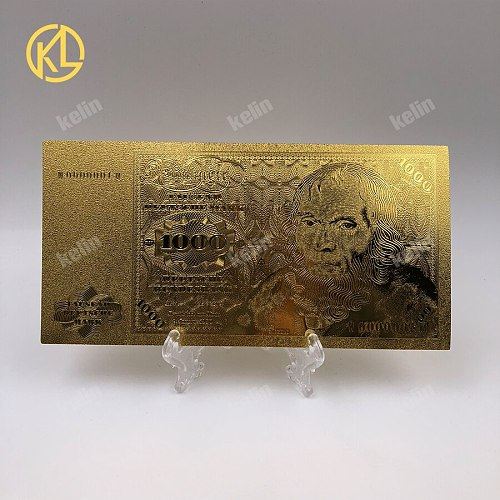 10pcs free shipping Germany Old 1000 Deutsche Mark Banknote Gold Foil Banknotes Gold Fake Money For Collection Birthday Gifts