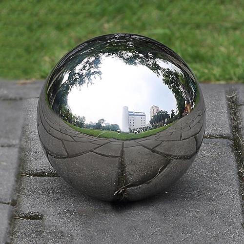 12cm 304 Stainless Steel Ball High Gloss Sphere Mirror Hollow Ball for Home Garden Decoration Supplies Ornament
