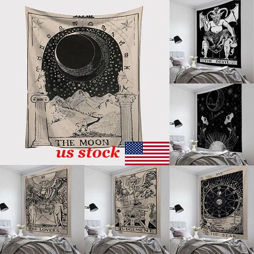 Fashion Tapestry Fresh Style Tarrot Sun Moon Pattern Blanket Mandala bohemian Decorative Hippie tapestry Home Decor Beach Mat