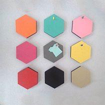 Hexagonal Multifunctional Wall Stickers Home Message Boards Felt Board Kids Room Decor Background Wallpaper 3D Decorative