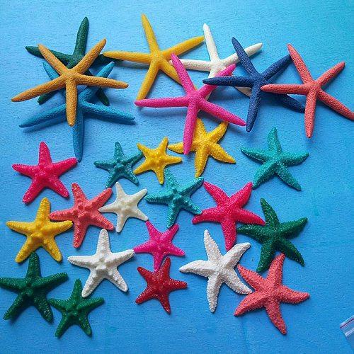 1PCS/lot resin crafts  Finger Starfish Drapery Hold 2 -4  Great  weddings or party  home decoration sea star sea shell