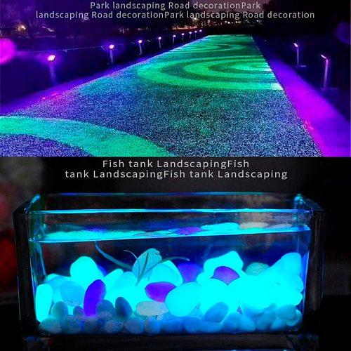 Garden Decor Luminous Stones Glow In The Dark Decorative Pebbles Outdoor Fish Tank Decoration Pebble Rocks Aquarium Mix Color