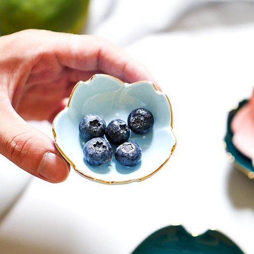 Creative Japanese Sakura Ceramic Dish Cherry Blossom Kawaii Plate Sauce Dish Flower Bowl for Kitchen Sauce Vinegar Dishes