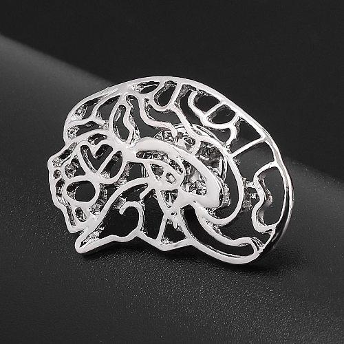 Human Organs Medical Brooch Brain Lungs Hollow Metal Lapel Pins Disease Treatment Punk Pins For Doctors Nurses Badge Jewelry