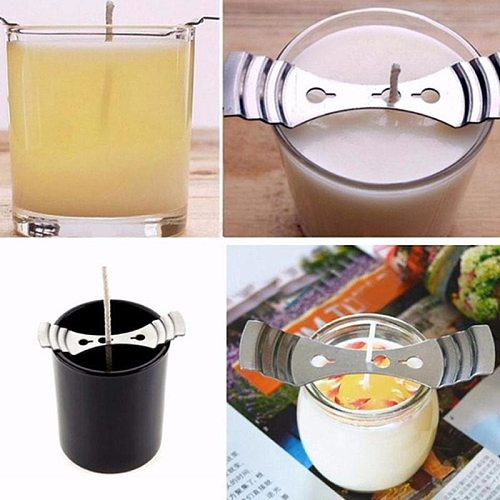 1Pcs Metal Candle Wicks Holder Centering Device Wick Clip DIY Handmade Candle Wicks Making Accessories Candle Mold Home Decor