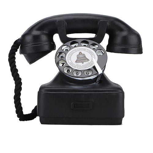 Vintage Retro Antique Phone Landline Telephone Home Desk Decor Ornament Photograph Props