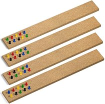 8Pcs Cork Strips Frameless Self-Adhesive Cork Board with Cork Board Pins for Office School Home Decor Adhesive Squares Included