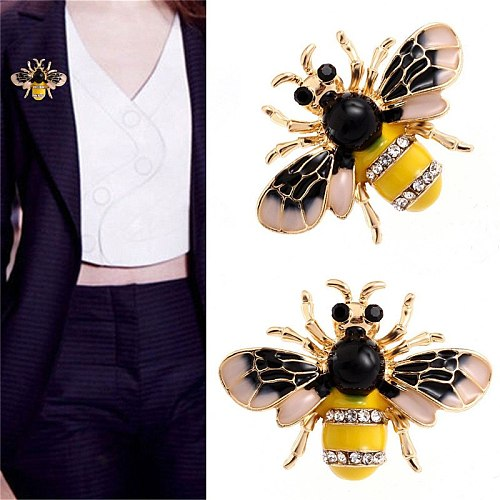 Enamel Bee Brooches Unisex Insect Brooch Pin Women and Men Jewelry Cute Small Badges Fashion Jewelry Wholesale
