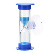 3 Min Mini Hourglass for Shower / Kids Teeth Brushing Timer with Suction Cup Lead-free Time Hourglass Thermometer Clock Watches~