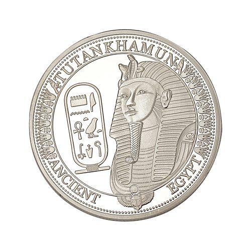 Egyptian Nefertiti Figure Pyramid Art Silver Coin Sundial Commemorative Coins Collection Home Decoration Accessories
