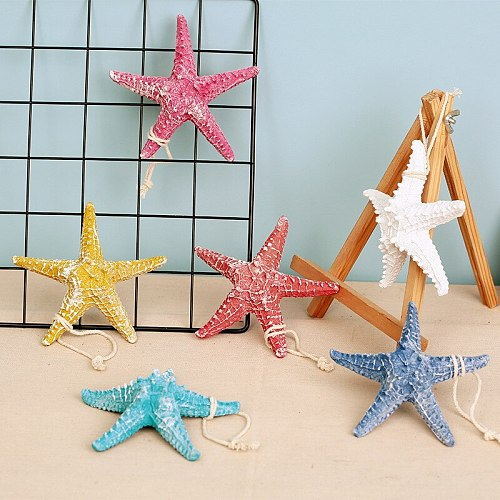 Mediterranean Resin Starfishes Creative Colorful Nautical Home Bar Wall Hanging Decoration Crafts Cute Desktop Nature Ornaments