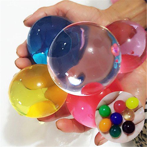 100Pcs/50pcs Big Hydrogel Balls Pearl Shaped Very Large 13-17mm Crystal Soil Water Beads Mud Grow Ball Wedding Decor