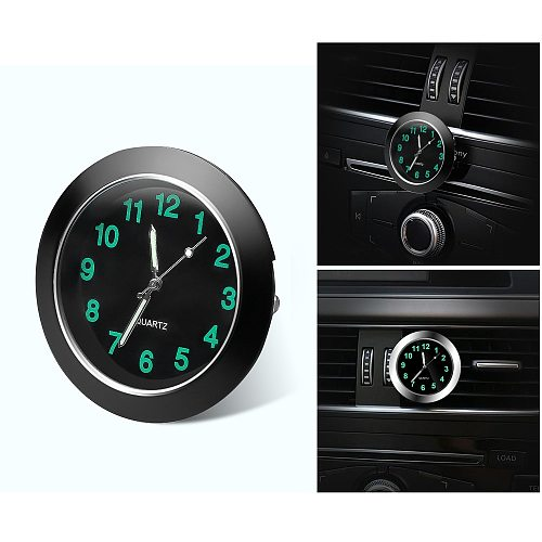 Car Clock Luminous Automobiles Internal Stick-On Mini Digital Watch Mechanics Quartz Clocks Auto Ornament Car Accessories