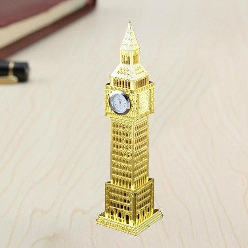 1pc Retro British London Big Ben Clock Creative Home Furnishing Metal Ornament Handicrafts Miniatures (Random Color)