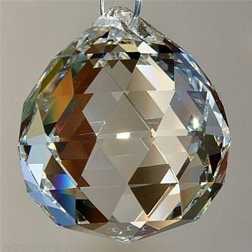 20mm Hanging Clear Crystal Lighting Ball Prisms DIY Pendant Curtain Chandelier Decor