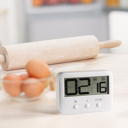 hot sell White Kitchen Pocket Digital Large LCD Screen Countdown Timer Cooking Time Clock Alarm for Kitchen Times Tools