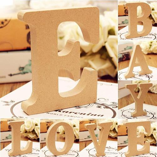 DIY Freestanding A-Z Wood Wooden Letters Alphabet Hanging Birthday Party Home Decorations Ornaments  Decor