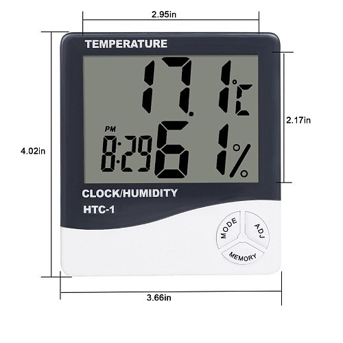 Indoor Room Specialty Clocks LCD Electric Temperature Humidity Meter Digital Thermometer Hygrometer Weather Station Alarm Clock