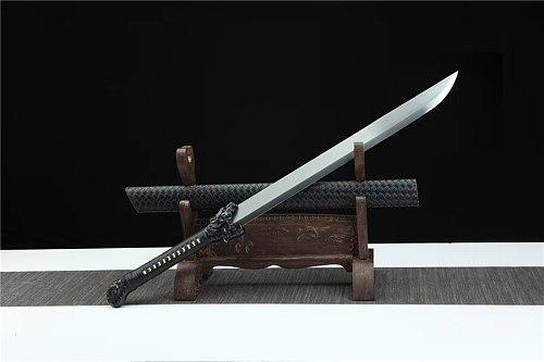 HandMade Hunting Dao Battle Ready Broadsword Sword Saber Very Sharp Hign Manganese Steel Blade Strong Full Tang