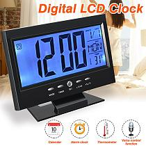 Electronic LCD Temperature Humidity Meter Monitor Clock Digital Thermometer Hygrometer Indoor Home Weather Station